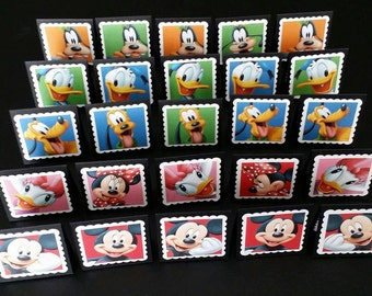 25 Handmade Mickey and Friends Mini Note Cards / Note Cards / Mini Cards / Mickey Cards / Disney Cards / Disney Tags / Mickey Tags / Minnie
