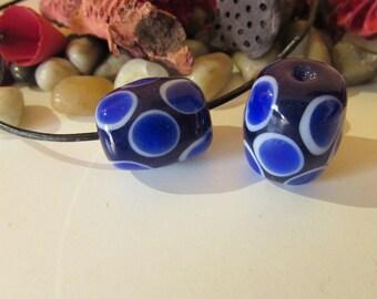 D-00615-  1 handrolling Lampwork Bead 17x20mm approx.100% Handmade!