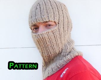Ladies Balaclava Knitting Pattern : Balaclava mask   Etsy