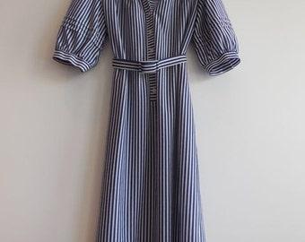 Vintage 70s Nautical Stripe Dress