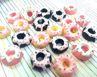 24mm Frosted Donut Cabochon 5 pcs