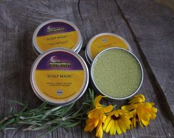 ORGANIC Scalp Magic -Contains Organic Rosemary, Stinging Nettles, Calendula, and 100% Pure Scalp Healing Essential Oils - 1oz tin