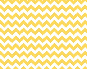 Yellow Chevron Fabric by Riley Blake Designs. 100% cotton. Modern Small Zig Zag Chevron. C340-50 Yellow