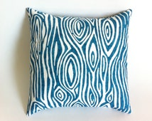 11 Sizes Available: One Dark Teal & White Tree Bark Decorative Throw Zipper Pillow Cover 18x18 20x20 24x24 26x26 and more Woodgrain