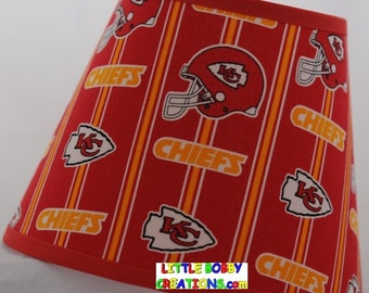 NFL Football Kansas City Chiefs Fabric Lamp Shade (10 Sizes to Choose From)