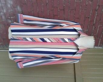 Vintage Long Sleeve Striped Shirt Size 12