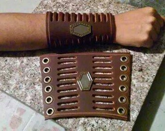 Steampunk Leather Gauntlets style 1