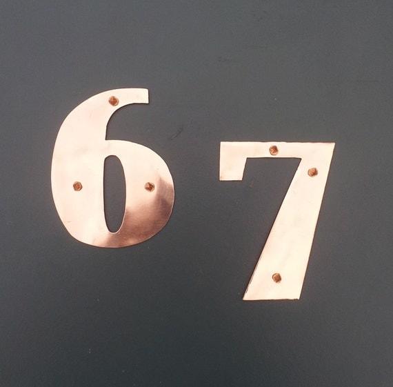 art deco 75mm 3 high copper house numbers by davidmeddingsdesign. Black Bedroom Furniture Sets. Home Design Ideas