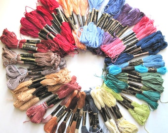 10 Skeins Pack  of Embroidery Floss - Thread -  Random 10 different colors
