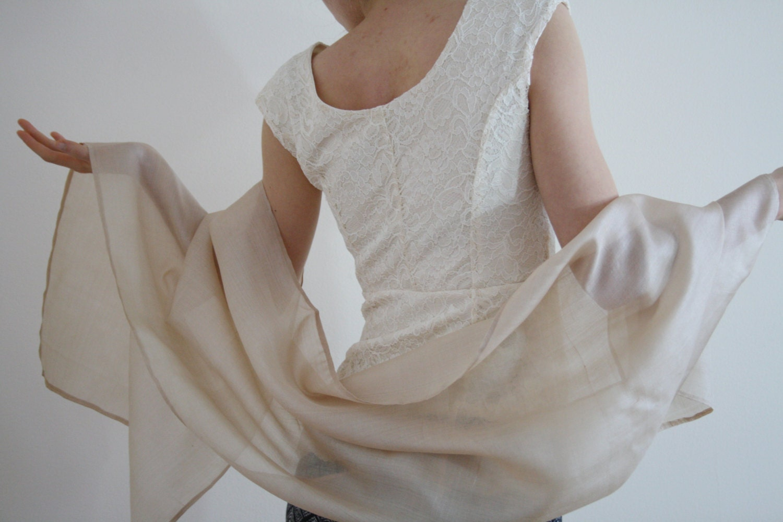 ivory bridal wrap ivory bridal shawl sheer wedding wrap