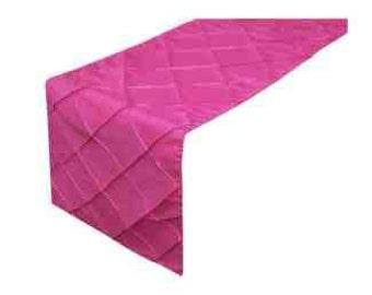 Fushia Pink Pintuck Table Runner