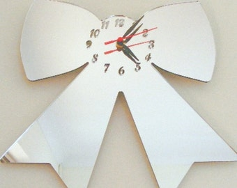Ribbon Clock Mirror - 2 Sizes Available