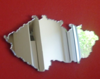 Czech Republic Shaped Map Mirror - 5 Sizes Available.