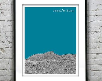 Camel's Hump Huntington Vermont VT City Skyline Poster Print Richmond