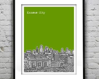 Kansas City Poster Art Print Original Missouri Version 2