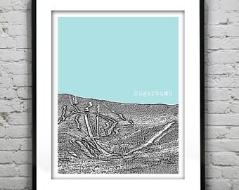 Sugarbush Vermont VT Ski Skiing Art Print Poster