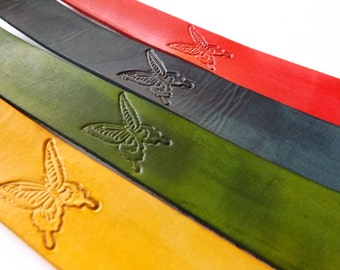Leather Bookmark - Majestic Butterfly