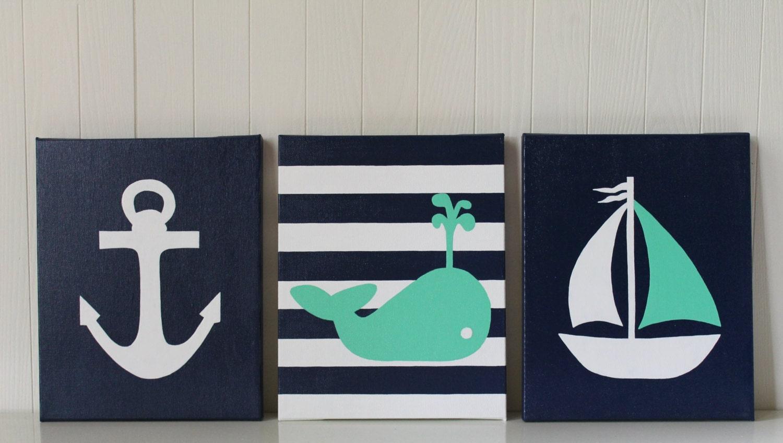 nautical nursery decor nautical painting whale nursery navy