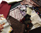 Variegated Box of Fabrics, Scrap Quilts, stash Builder.