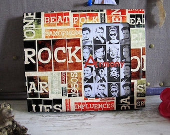 Free  Shipping /Rock and Roll  Design Picture Frame/Housewarming Gift/Cute Home Decor
