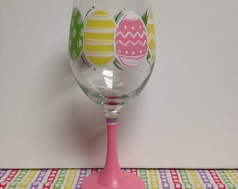 Easter EGG- cellent Eggs Wine Glass