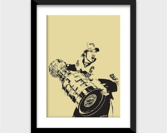 Sidney Crosby Art Print - Multiple Sizes Available - Pittsburgh Penguins Captain - Perfect Gift for Penguins Fans, Hockey Fans, Guys, Girls