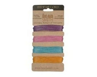 4 pastel colors Hemp Twine .55mm (10 lb. test)