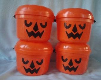 4 McDonalds Halloween Happy Meal Pails/1986 McGoblin/Trick or Treat Pails