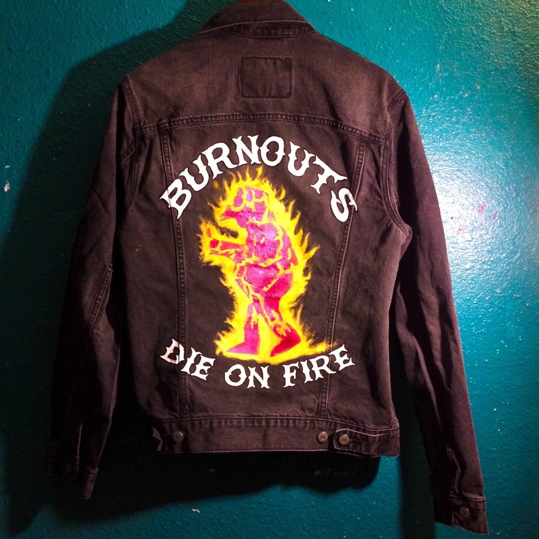 Levi S Custom Painted Denim Jean Jacket The Simpsons