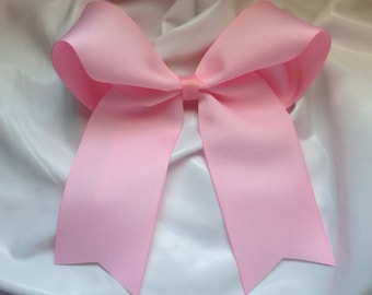 Solid Light Pink Cheer Bow - #205399038
