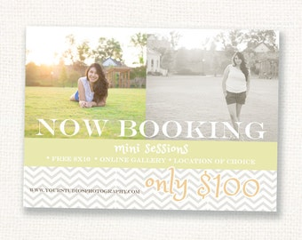 Photography Marketing Board - Mini Sessions - Photoshop template - INSTANT DOWNLOAD
