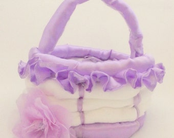 Pocket Diaper Version of Easter Basket Style Diaper Cake for Baby Showers and New Moms - Choose your color!