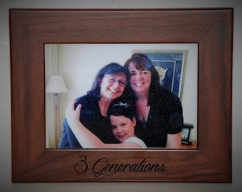 8x10 Laser Engraved Walnut Picture Frame, Custom picture frame, personalized picture frame 8x10