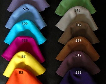 Wool felt body cones in 29 colors  Felt bodies for Millinery hat hood