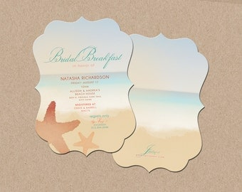 Beach Themed Bridal Shower Invites
