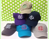 Monogrammed Baseball Hat- Great for Graduation Gifts, Spring Break, Beach, and Summer