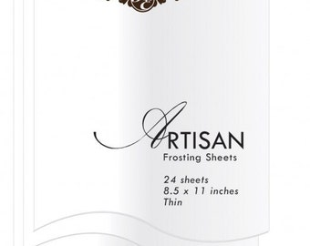 Inkedibles Artisan Frosting Sheets (24 sheets 8.5 x 11 inches) - thin
