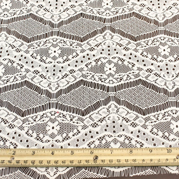 Natural eyelash floral lace fabric by the yard or wholesale for Cheap fabric by the yard