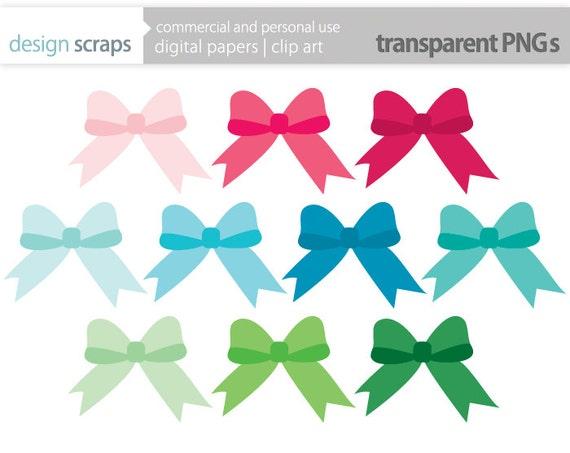 Bows ribbons clip art graphics bow ribbon digital clipart gift bows