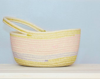Multicolor Cotton Sash Cord Basket