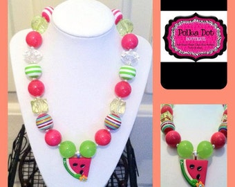 Juicy Watermelon Chunky Necklace