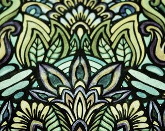 Geometric Wall Print// Mandala 2 in Moss