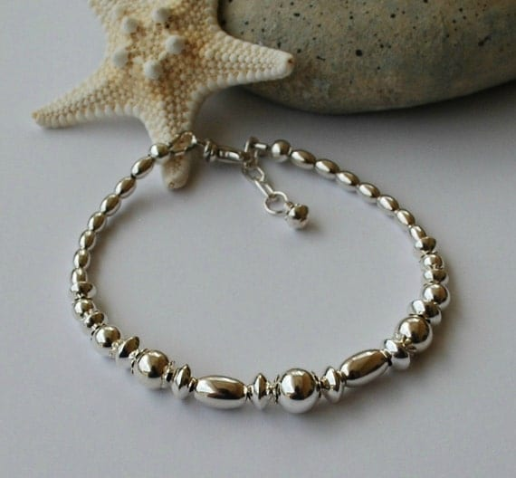 Bright, Beautiful Sterling Silver Adjustable Bracelet