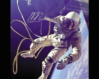 Photograph - First American Spacewalk- 1965 -Astronaut  Gemini 4- 1968 Apollo 8 -Photo Print