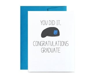 Army basic training graduation card - BCT military congrats you did it blue For a military soldier card. Little sloth cards