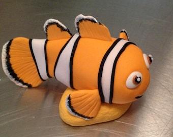 Clown fish Cake Topper edible fondant icing
