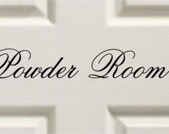 Vinyl Door Decal Powder Room