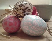 Fimo Polymer Clay Decorative Easter Eggs.Easter Ornament Spring Decoration