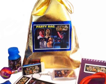 Starwars Party/Loot bag with 8 items inside