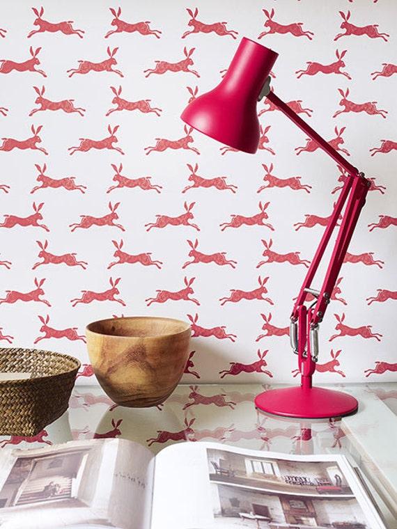 Easter hare wallpaper peter rabbit wallpaper jane churchill for March hare wallpaper